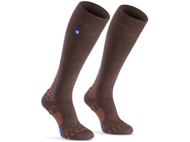 Compressport Care - Calcetines Running - marrón